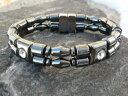 【送料無料】ブレスレット アクセサリ— ダブルブレスレットラインストーンセラピーmens womens double 100 magnetic bracelet anklet w rhinestone therapeutic