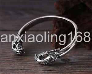 【送料無料】ブレスレット アクセサリ— スターリングシルバーファッションダブルスカルタイブレスレットpure s925 sterling silver fashion individuality double skull thailand bracelet