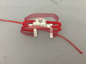 【送料無料】ブレスレット アクセサリ— diyarmkette*ニュー*diy bracelet armkette * heart, love what you do * red silver handmade