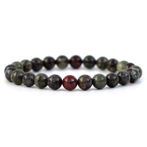 男女兼用アクセサリー, ブレスレット  dragon blood gemstone bracelet 8mm round natural stone beads