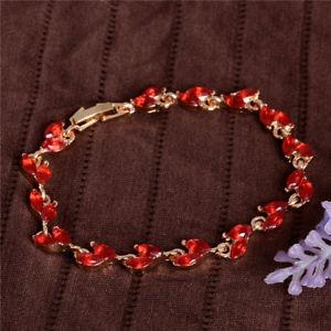 【送料無料】ブレスレット アクセサリ— ゴールドルビーマーキーズカットリンクブレスレット18k gold ep 2 ct ruby marquise cut link bracelet