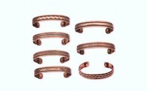 【送料無料】ブレスレット アクセサリ— ロットブレスレットカフlot 5 copper magnetic bracelet cuff wtherapy magnet arthritis ~ 5 different