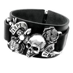 【送料無料】ブレスレット アクセサリ— ブレスレットブランドalchemy ul13 carpe diem leather bracelet brand