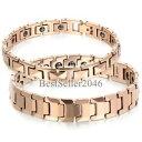 【送料無料】イタリアンブレスレットタングステンカーバイドピンクゴールドブレスレットuomo donne braccialetto di terapia magnetica in carburo di tungsteno oro rosa