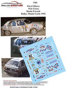 【送料無料】模型車 スポーツカー デカールシュコダラリーモンテカルロラリーdecals 143 ref 1701 skoda favorit sibera rally monte carlo 1992 rally wrc