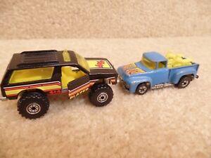 車・バイク, レーシングカー  vintage 1983 hot wheels 4x4 chevy blazer doors open amp; hi tail hauler motorcycles