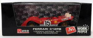 【送料無料】模型車 スポーツカー モデルスケールフェラーリキロ#モンツァbrumm models 143 scale r259 ferrari 312 pb 1000km 15 monza 1971