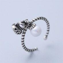 【送料無料】猫 キャット リング thailandcute fortune cat drop pearl round thailand silver plated