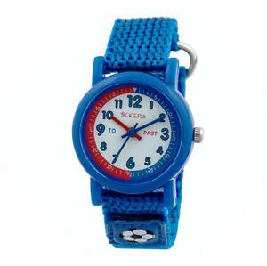 腕時計, 男女兼用腕時計  tikkers childrens time teacher webbing strap watch with rip strap tk0113tnp