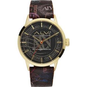 腕時計, 男女兼用腕時計  orologio donna alv by alviero martini alv0047 pelle nero gold dorato