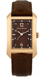 【送料無料】腕時計 ブラウンレザーストラップレディスカレンウォッチキロボックスladies karen millen brown leather strap watch km104tg brand in box original