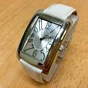 【送料無料】腕時計 ビンテージウィルソンレザーシルバーアナログクォーツバッテリーvintage wilson leather silver rectangle analog quartz watch hours~ battery