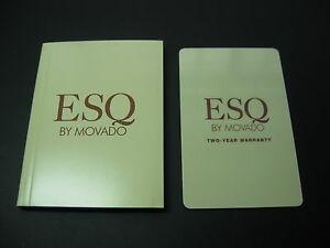 【送料無料】腕時計 オープンカードセットesq movado watch open blank international warranty card set operating manual