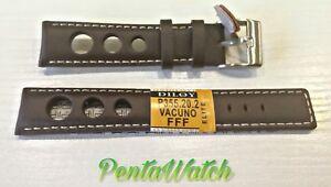 腕時計, 男女兼用腕時計  citurino in vera pelle marrone tropic forato heuer breitling rally vintage 22mm