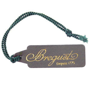 【FREE SHIPPING】Watch Dark Olive Green Breguet depuis 1975 dark olive green leather watch tag in great condition