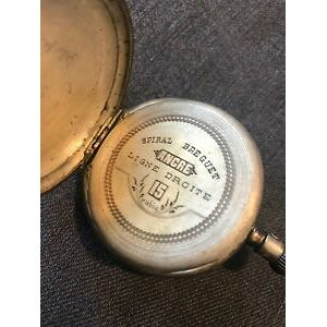 【免费送货】观看银色螺旋Breguet francese orologio tasca argento 0800螺旋Breguet 51毫米