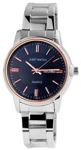 腕時計, 男女兼用腕時計  just watch herrenuhr, analog, rose silber, datum monatsanzeige 006