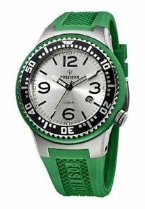 腕時計, メンズ腕時計  orologio uomo,poseidon kienzle,00405,large 48 mm,slim,10 atm,verde,silver,diver