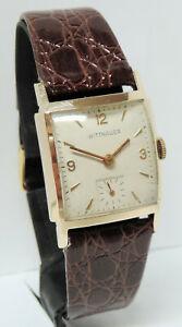 【送料無料】腕時計 ウィットスイス1950's wittnauer swiss 17 jewels men's gold filled watch, recently serviced