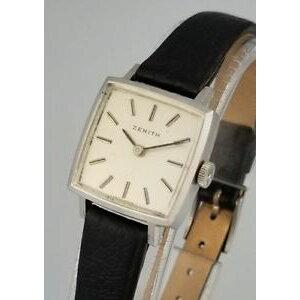【送料無料】腕時計 ヴィンテージゼニスレディースマニュアルステンレススチールvintage zenith ladies manual wind wrist watch stainless steel runs good