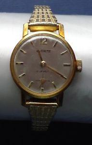 腕時計, 男女兼用腕時計  ladies everite watch 17 jewels amp; speidel us strap vintage