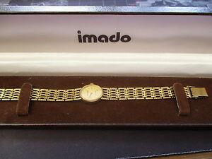 【送料無料】腕時計 ビンテージレディースクオーツvintage ladies boxed imado quartz watch,running and decent condition