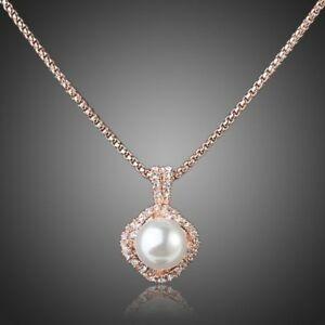 男女兼用アクセサリー, ネックレス・ペンダント  blanco perla colgante collar para mujeres nias damas mjn0067