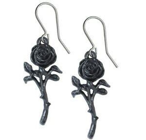 男女兼用アクセサリー, ネックレス・ペンダント  romance de la rosa negra pendientes colgante ganchos alchemy gothic e421 nuevo
