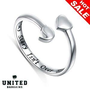 【送料無料】アクセサリー ネックレススターリングシルバーリングセミコロンdaochong s925 sterling silver anillo abierto de punto y coma conciencia inspiradores