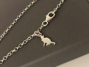 男女兼用アクセサリー, ネックレス・ペンダント  cadena de tobillo de plata maciza 925 con encanto gato mini por encantado