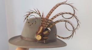 【送料無料】アクセサリー ネックレスフェザーブローチピンキジfeather brooch hat pin pheasant bird shooting present gift fedora hat