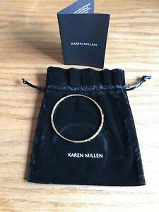 【送料無料】アクセサリー ネックレス カレンクリスタルゴールドブレスレットブランドkaren millen crystal bracciale in oro cospargere * brand ne