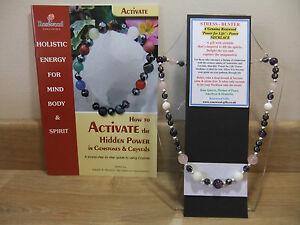 【送料無料】アクセサリー ネックレス ストレスバスターインチネックレスlo stress buster olistico handmade 18 pollici esoterico gemstone collana pi un libro