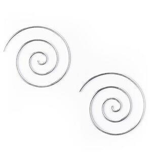 【送料無料】アクセサリー ネックレス シルバーイヤリングスパイラルゲージ81stgeneration argento 925 orecchini tribali a spirale 16 calibro 25 mm