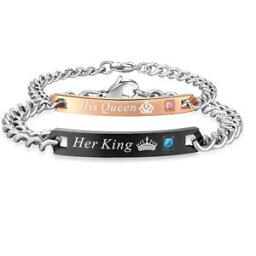 【送料無料】アクセサリー ネックレス チタンカップルチェーンバレンタインブレスレットtitanium steel couple love chain valentines day bracelet gift for men women