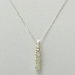 【送料無料】ネックレス ソリッドスターリングシルバーオパールレディースペンダントチェーンsolid 925 sterling silver natural colourful opal womens pendant amp; chain