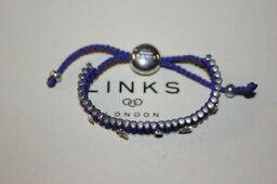 【送料無料】ネックレス ロンドンスターリングシルバーバーブレスレットリンクgenuine links of london sterling silver 35 bar purple stars friendship bracelet