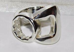 【送料無料】ネックレス スターリングシルバーレンチメンズリングサイズヘビーグラムsterling silver spanner mens large ring size z heavy 400 grams