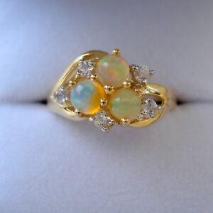 【送料無料】ネックレス インドネシアオパールリングbeautiful certified rare indonesian opal gold ring