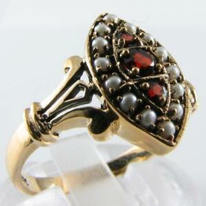 【送料無料】ネックレス ガーネットシードパールアールデコマーキーズリングサイズbeautiful 9k 9ct garnet amp; seed pearl art deco ns marquise ring free resize