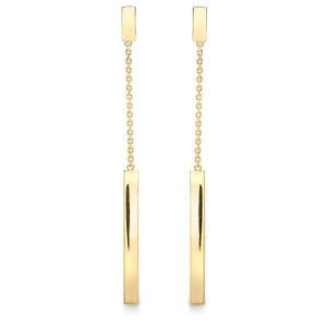 【送料無料】ネックレス 9ctイヤリングズ9ct gold bar drop earrings