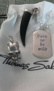 【送料無料】ネックレス thomas sabo perfect set of3large solidcharmsthomas sabo perfect set of 3 large solid silver charms