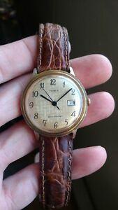【送料無料】 腕時計 1975タイメックスマカジキmens goldtone1975 timex marlin mens goldtone wristwatch with date function