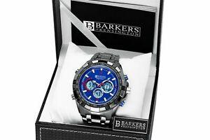 【送料無料】 腕時計 ケンジントンメガスポーツウォッチバーカー barkers of kensington men's mega sport blue watch