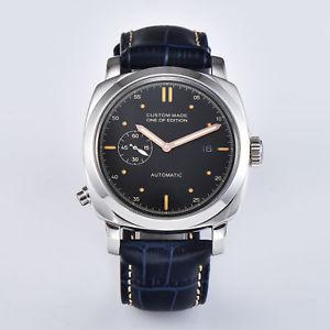 腕時計, 男女兼用腕時計  parnis44mmq036wristwatch parnis automatic men watch luxury 44mm military silver case q036
