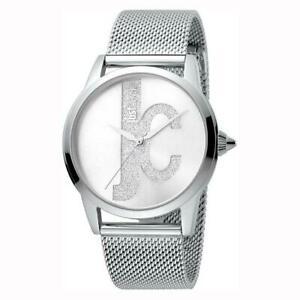 腕時計, 男女兼用腕時計  womens wristwatch just cavalli jc1l055m0045 stainless steel mesh glitter