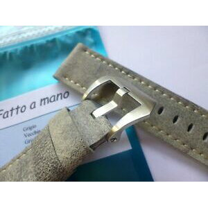 【Free Shipping】 Watch handmade leather strap Panerai Gray listing handmade leather strap in 24mmgrey in 2422mm compatible with panerai