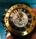 【送料無料】 腕時計 ショアメンズゴールドクロノグラフタキメーターダイバーウォッチshore tornade mens gold chronograph date tachymeter diver watch xl