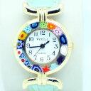 【送料無料】 腕時計 ムラノvidrio reloj de cuarzo desde veneciaミッレフィオーリligeroベルデmurano vidrio reloj de cuarzo desde venecia con millefiori ligero