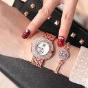 【送料無料】 腕時計 ブレスレットストラップwomen wristwatch bracelet set luxury crystals strap rhinestones decor fashion